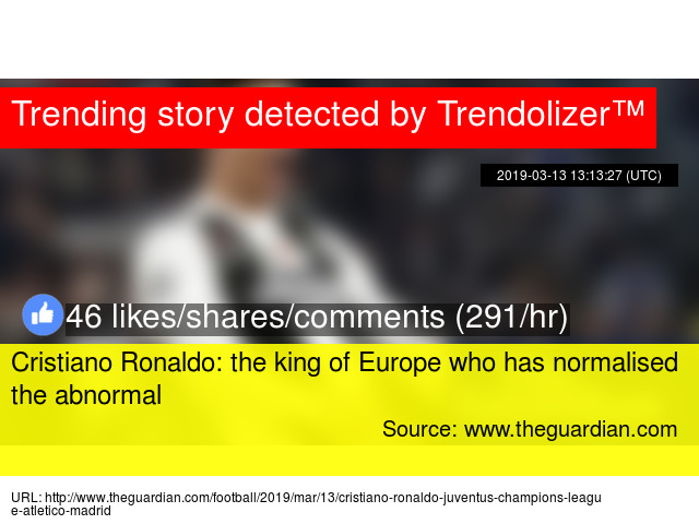 Cristiano Ronaldo  the king of Europe who has normalised the abnormal -  Stats a9ed3f042