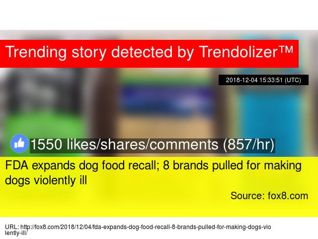 Fda Expands Dog Food Recall 8 Brands Pulled For Making Dogs