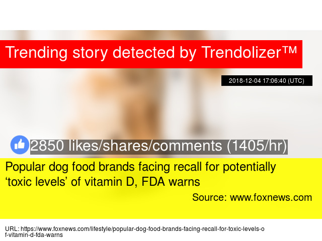 Popular Dog Food Brands Facing Recall For Potentially Toxic Levels