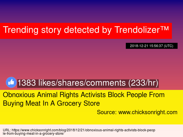 Obnoxious Animal Rights Activists Block People From Buying