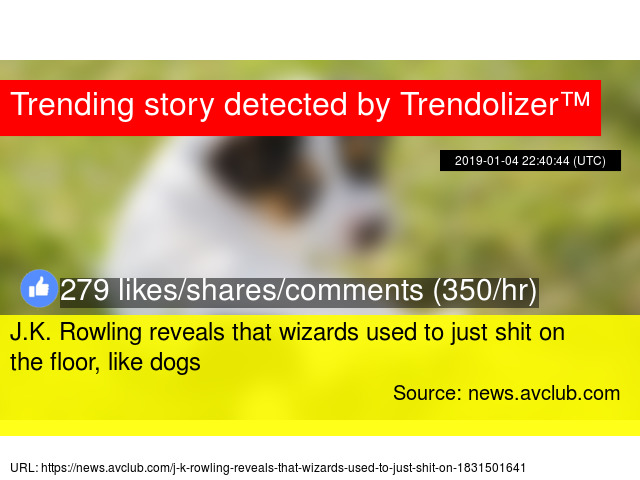 J.K. Rowling reveals that wizards used to just shit on the