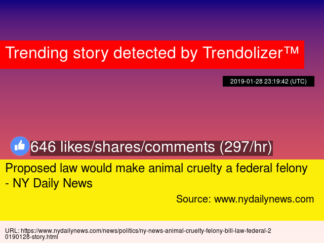 Proposed law would make animal cruelty a federal felony - NY Daily News
