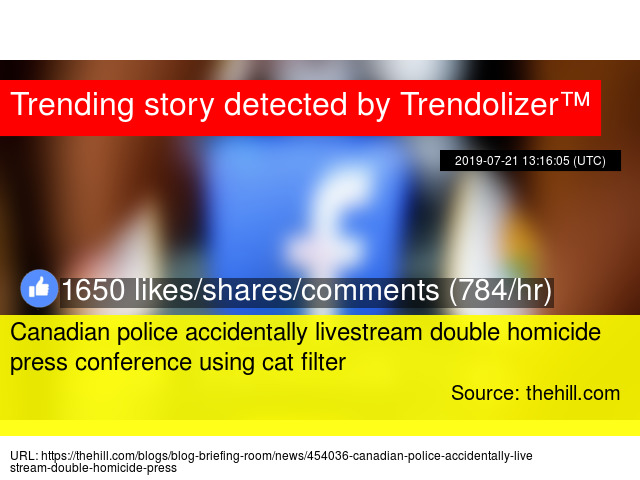 Canadian police accidentally livestream double homicide