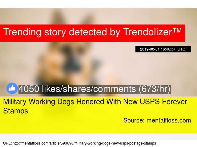 Military Working Dogs Honored With New USPS Forever Stamps