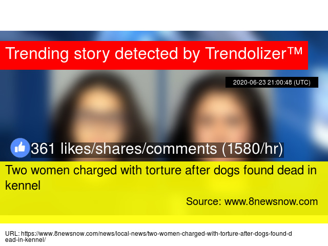 Two women charged with torture after dogs found dead in kennel