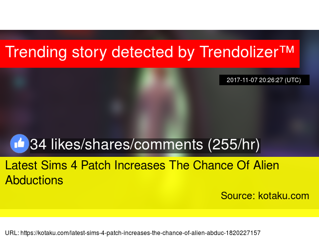 Latest Sims 4 Patch Increases The Chance Of Alien Abductions