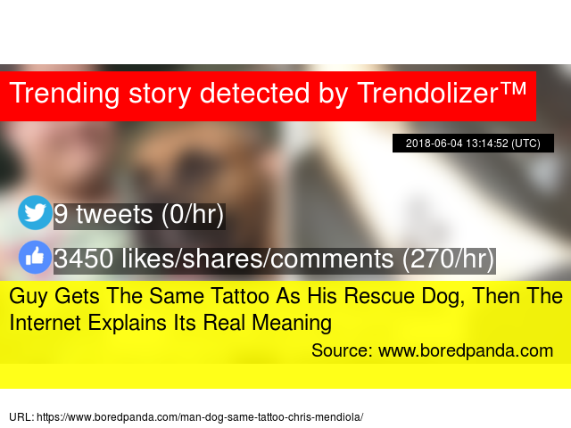 Guy Gets The Same Tattoo As His Rescue Dog, Then The