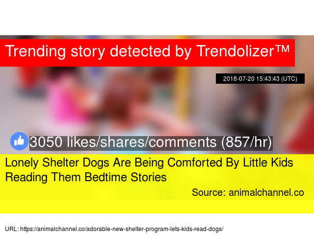Lonely Shelter Dogs Are Being Comforted By Little Kids