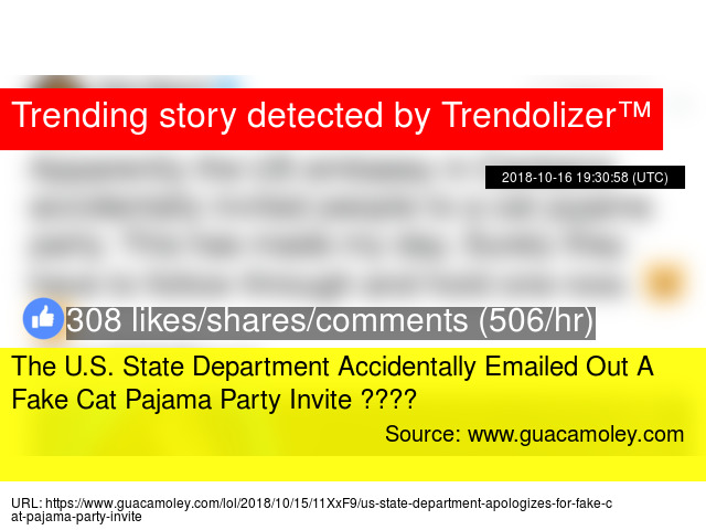 the u s state department accidentally emailed out a fake cat pajama